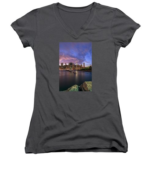 Apocalypse Women's V-Neck T-Shirt (Junior Cut) by Anthony Fields