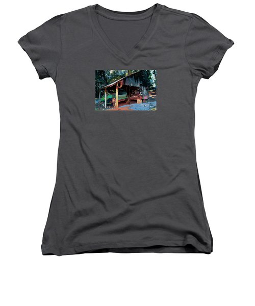 Appalachia Wagon Waiting For Repair  Women's V-Neck (Athletic Fit)
