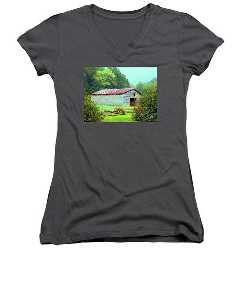 Appalachian Livestock Barn Women's V-Neck T-Shirt