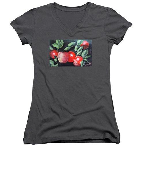 Apple Bunch Women's V-Neck T-Shirt