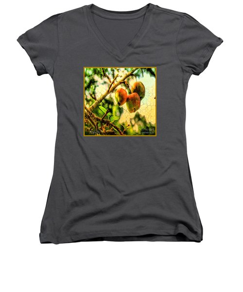 Apple  Season Women's V-Neck