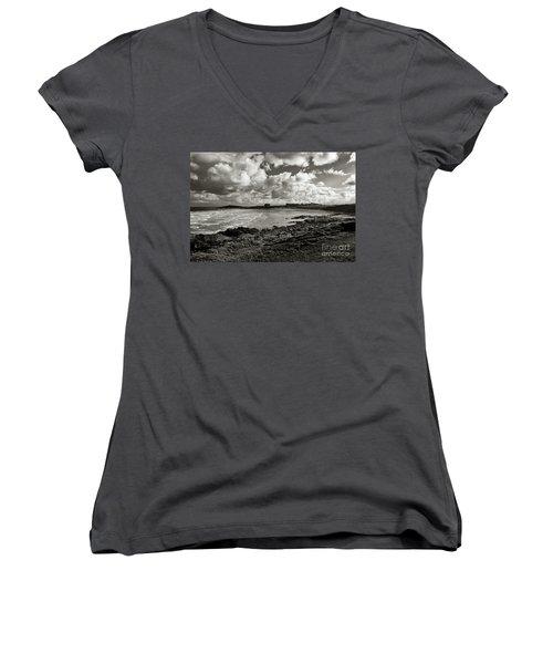 Approaching Storm Women's V-Neck T-Shirt (Junior Cut) by Nicholas Burningham