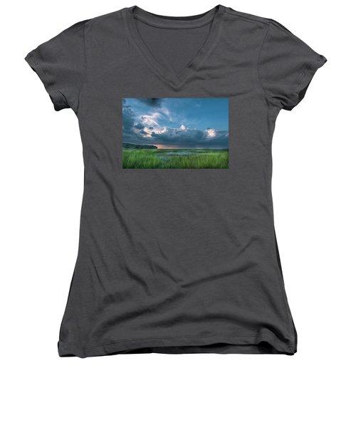 Approaching Storm Women's V-Neck T-Shirt