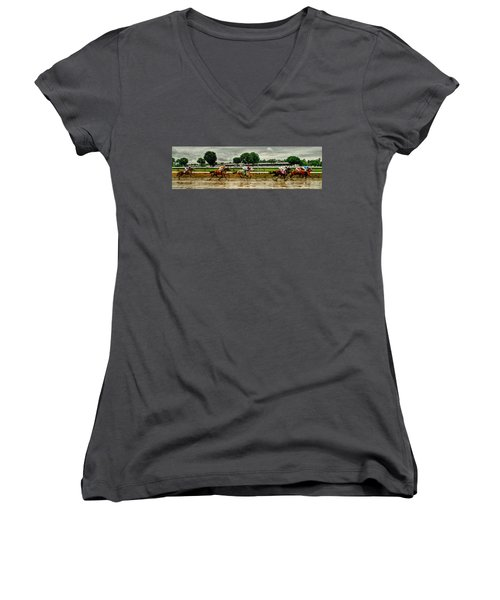 Approaching The Far Turn Women's V-Neck (Athletic Fit)