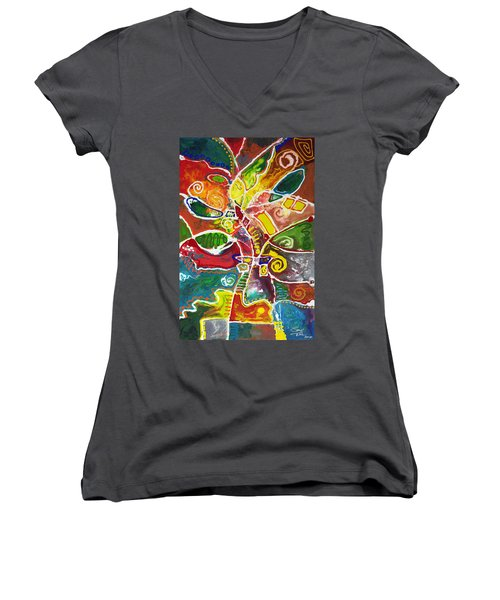 April Bouquet Women's V-Neck (Athletic Fit)