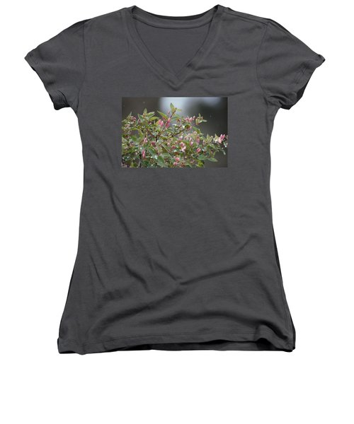 April Showers 10 Women's V-Neck T-Shirt (Junior Cut) by Antonio Romero