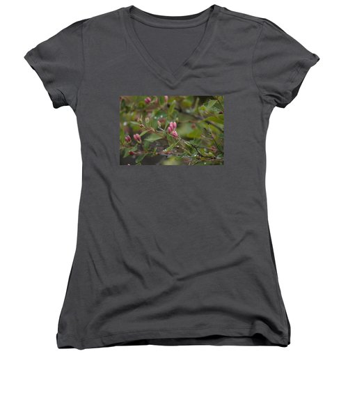 April Showers 2 Women's V-Neck T-Shirt (Junior Cut) by Antonio Romero