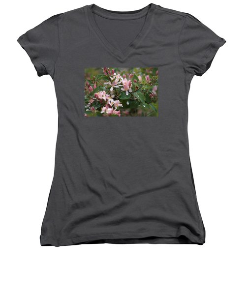 Women's V-Neck featuring the photograph April Showers 8 by Antonio Romero