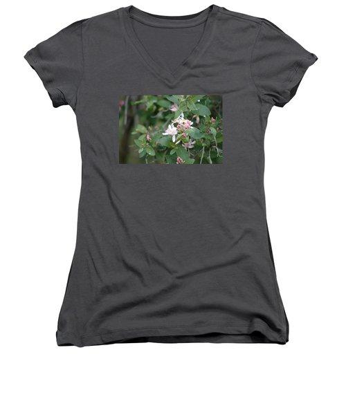 April Showers 9 Women's V-Neck T-Shirt (Junior Cut) by Antonio Romero