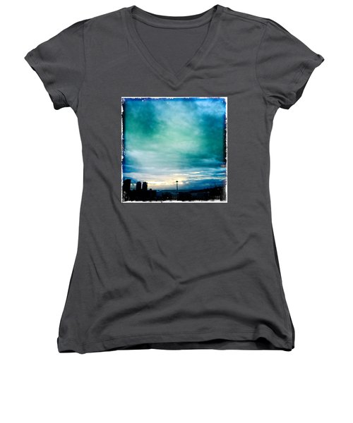 Aqua Needle Women's V-Neck