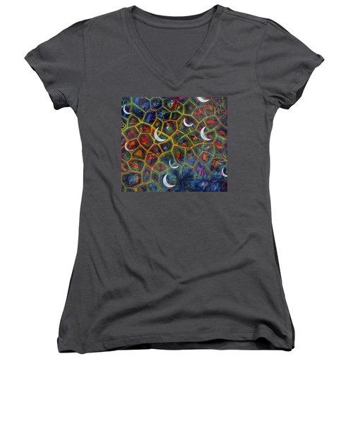 Arch 15 Crescents Part1 Women's V-Neck T-Shirt