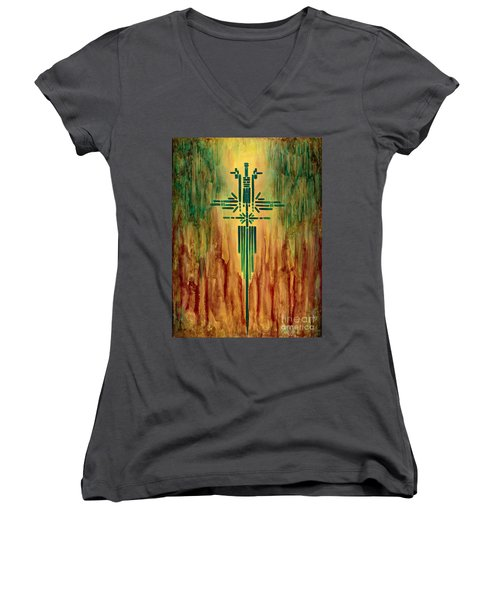 Archangel Michael Women's V-Neck T-Shirt