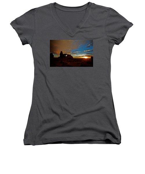 Arches Women's V-Neck T-Shirt (Junior Cut) by Evgeny Vasenev