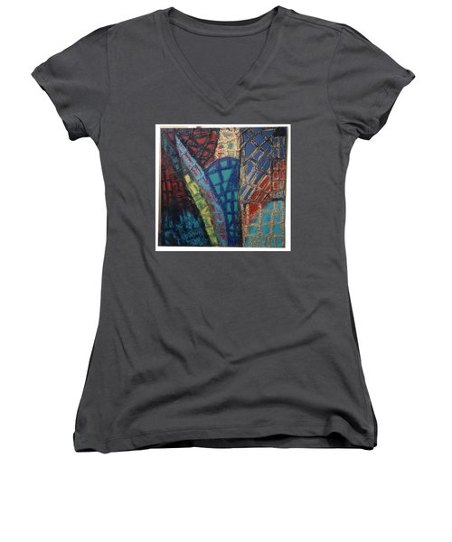 Architectuaral Bent,   Women's V-Neck T-Shirt