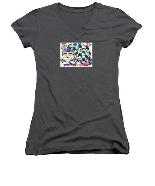 Argyle Women's V-Neck T-Shirt