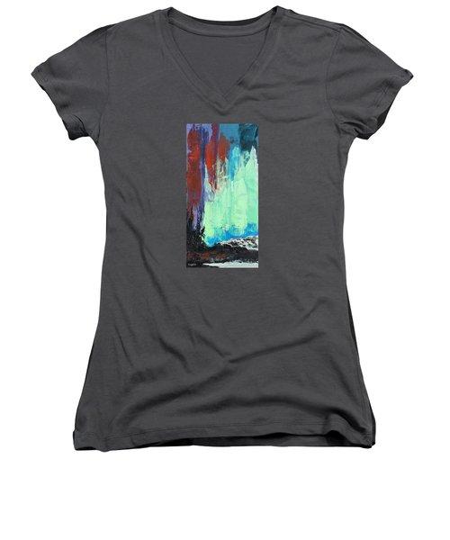 Arise Women's V-Neck T-Shirt (Junior Cut) by Nathan Rhoads