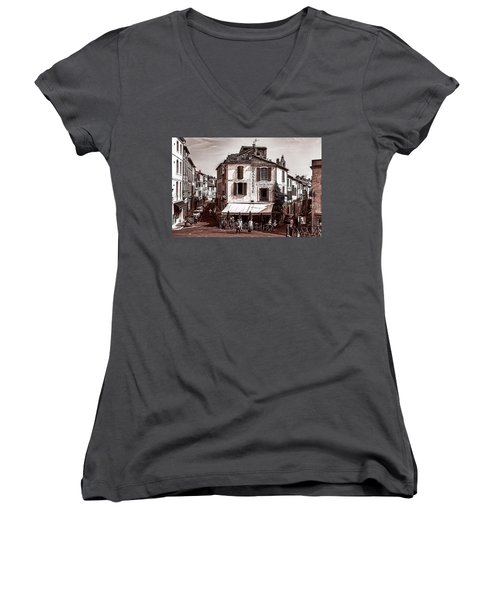 Arles, France, In Sepia Women's V-Neck (Athletic Fit)