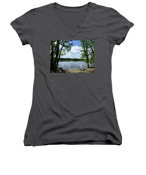 Arlington Reservoir Women's V-Neck (Athletic Fit)