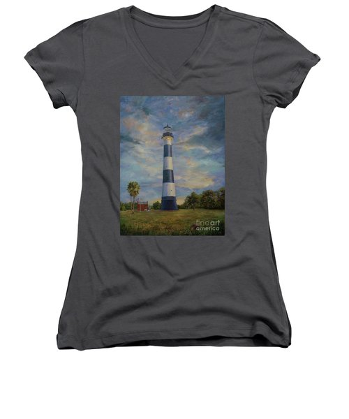 Armadillo And Lighthouse Women's V-Neck