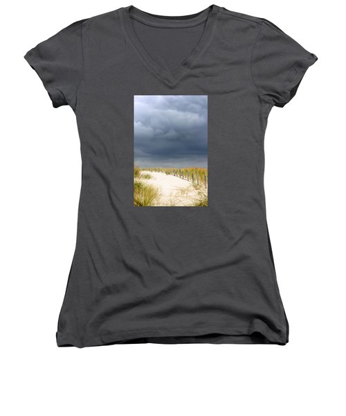 Women's V-Neck T-Shirt (Junior Cut) featuring the photograph Around The Bend by Dana DiPasquale
