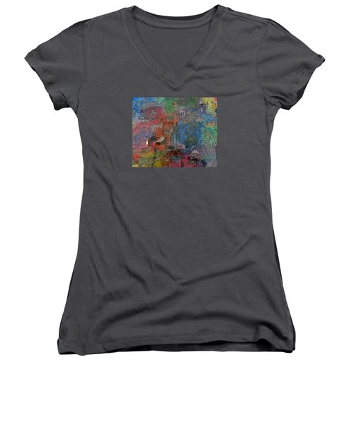 Around The World Women's V-Neck T-Shirt