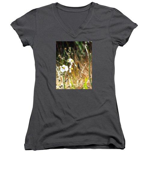Arrowhead Blooms Women's V-Neck T-Shirt (Junior Cut) by Audrey Van Tassell