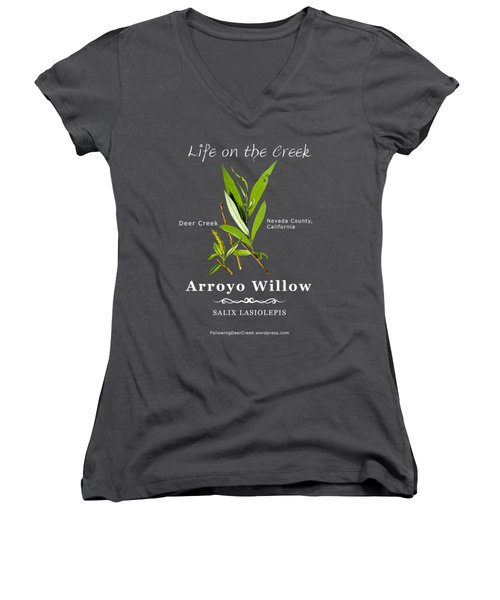 Arroyo Willow - Color Women's V-Neck (Athletic Fit)