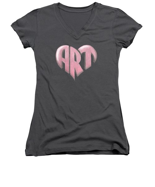 Art Heart Women's V-Neck (Athletic Fit)