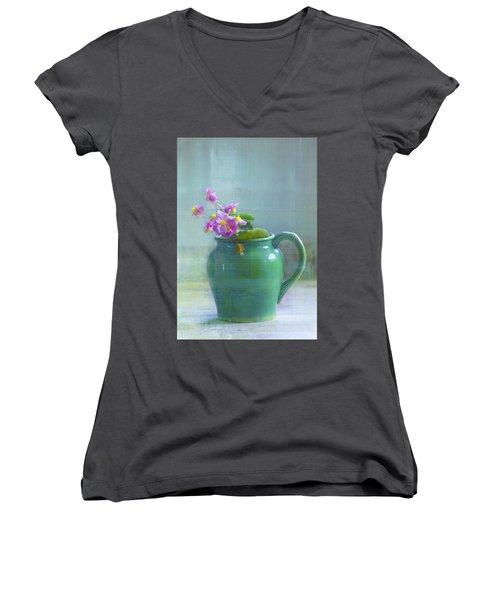 Art Of Begonia Women's V-Neck
