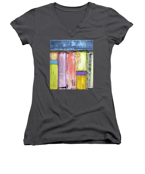 Art Print Abstract 47 Women's V-Neck (Athletic Fit)