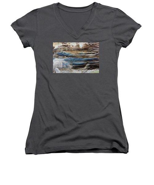 Art Print Cliff 1 Women's V-Neck