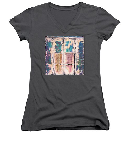 Art Print Square 8 Women's V-Neck (Athletic Fit)