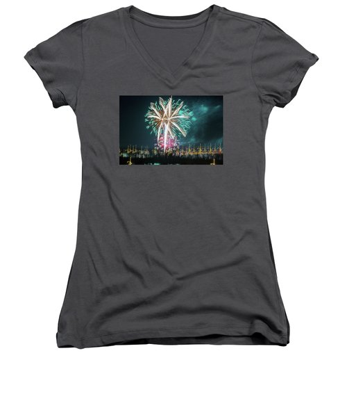 Artistic Fireworks Women's V-Neck