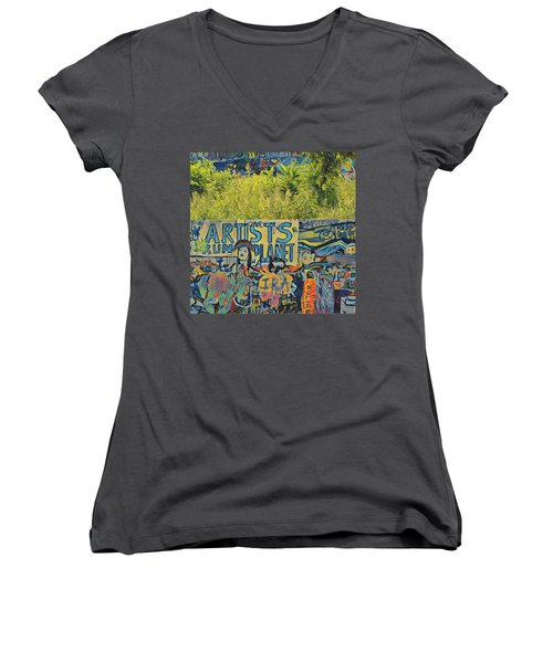 Artists Run The Planet Women's V-Neck