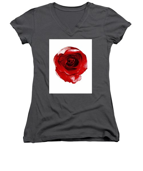 Artpaintedredrose Women's V-Neck