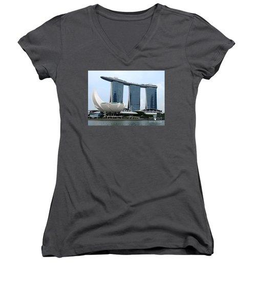 Artscience 5 Women's V-Neck T-Shirt (Junior Cut) by Randall Weidner