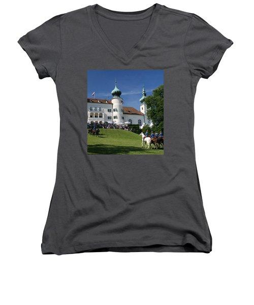Artstetten Castle In June Women's V-Neck (Athletic Fit)