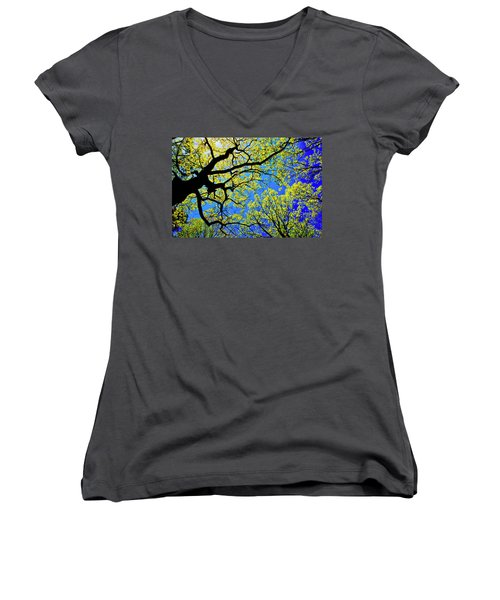Artsy Tree Canopy Series, Early Spring - # 01 Women's V-Neck