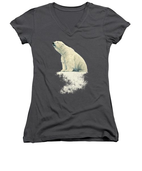 Something In The Air Women's V-Neck T-Shirt (Junior Cut) by Lucie Bilodeau