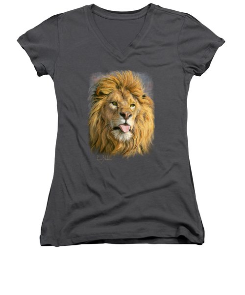 Silly Face Women's V-Neck T-Shirt (Junior Cut) by Lucie Bilodeau