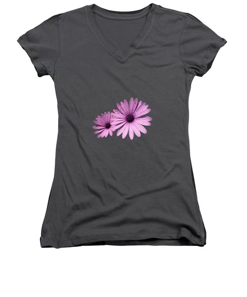 Dew Drops On Daisies Women's V-Neck (Athletic Fit)