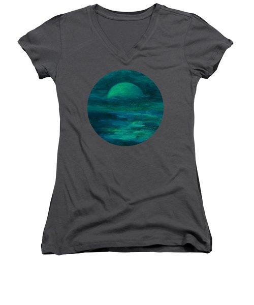 Moonlight On The Water Women's V-Neck