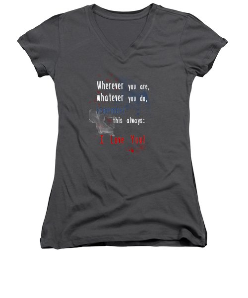 Wherever You Are Women's V-Neck (Athletic Fit)