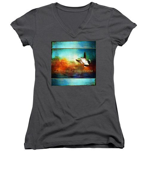 She Built Her Wings Women's V-Neck