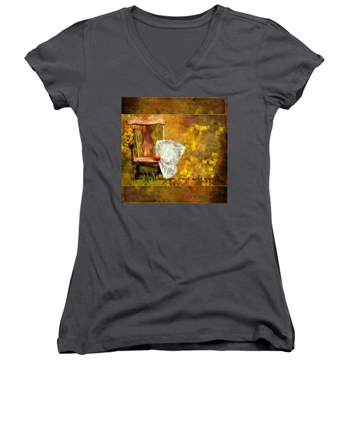 When Life Throws You Scraps, Make A Quilt Women's V-Neck