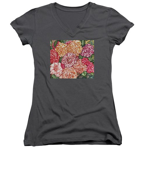 Flowers And Fruit Arrangement Women's V-Neck (Athletic Fit)