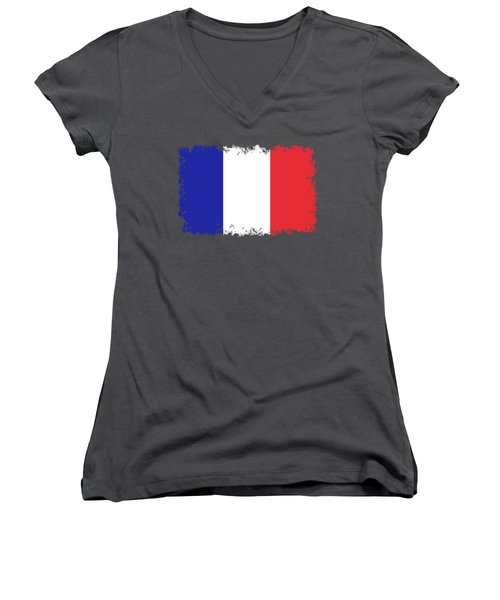 Flag Of France High Quality Authentic Image Women's V-Neck (Athletic Fit)