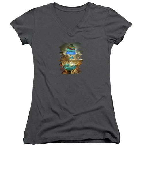 Beach Treasures - Faith Women's V-Neck T-Shirt
