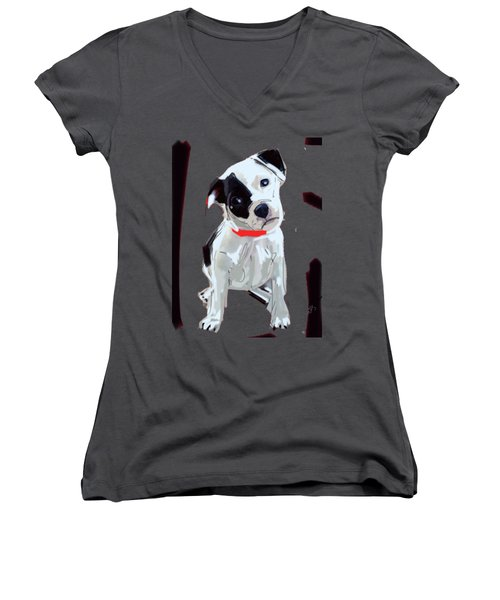 Dog Doggie Red Women's V-Neck