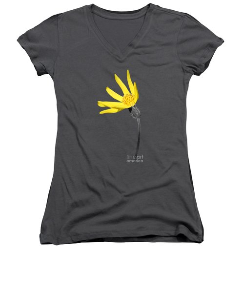 Yellow Wildflower Women's V-Neck